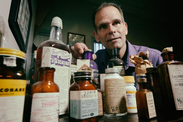 Pharmacist and toxicologist Lee Cantrell tested drugs that had been expired for decades. Most of them were still potent enough to be on the shelves today. (Sandy Huffaker for ProPublica)
