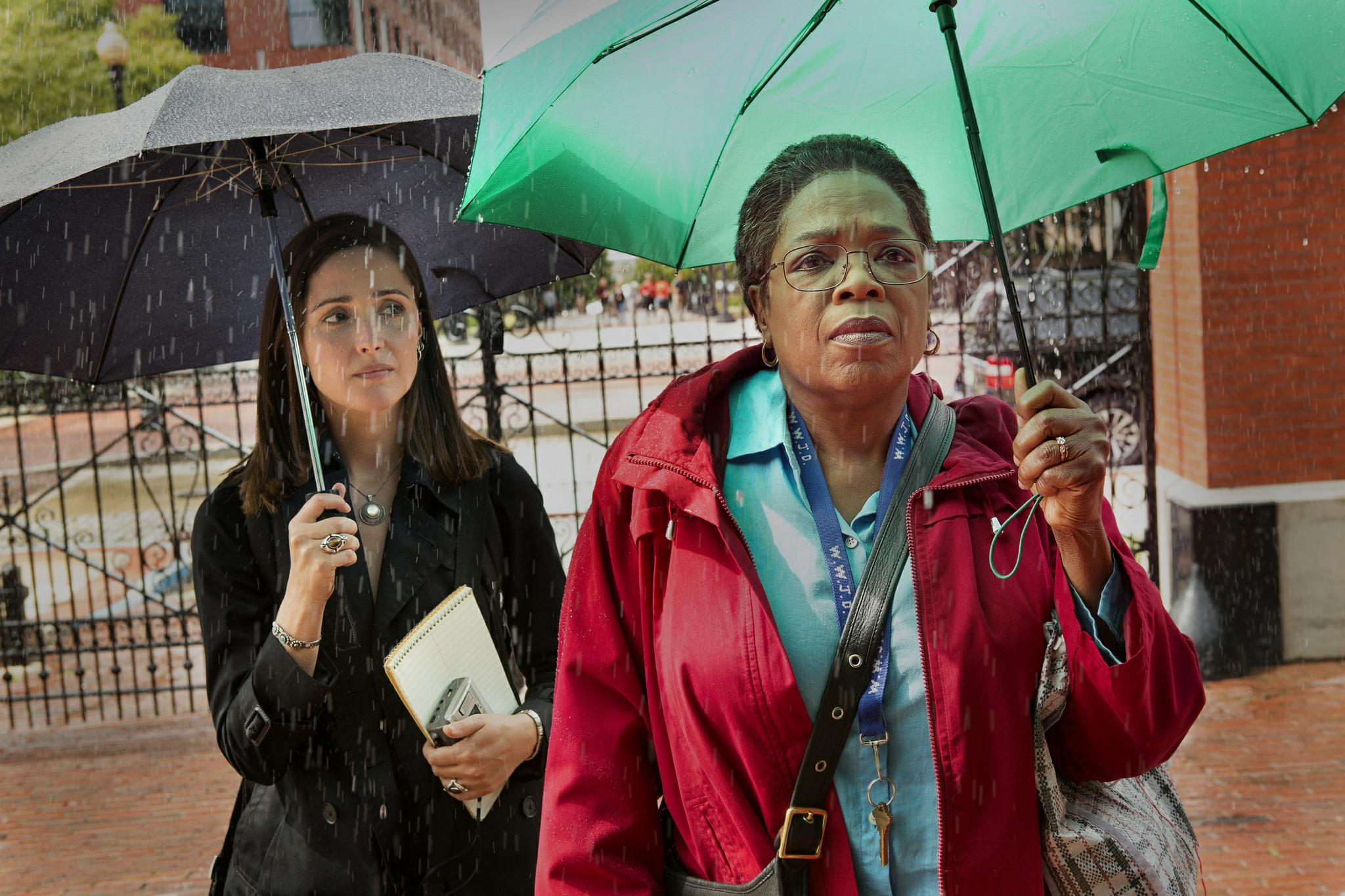 Rose Byrne as Rebecca Skloot and Oprah Winfrey as Deborah Lacks. Skloot is not only the book's author but also a central part of the story.