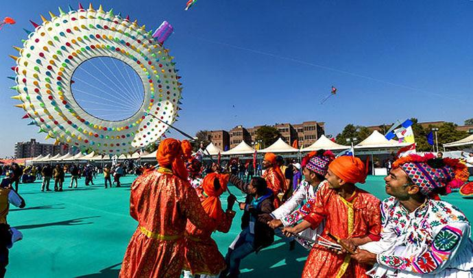 kites flying high, spirits soaring higher: uuttarayan is one of the biggest festivals in gujarat.