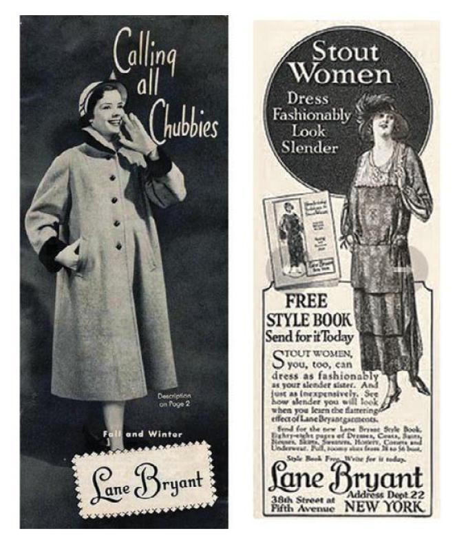 """01397b14c3 FROM """"CALLING ALL CHUBBIES"""" TO ITALIAN VOGUE vintage Lane Bryant ads"""