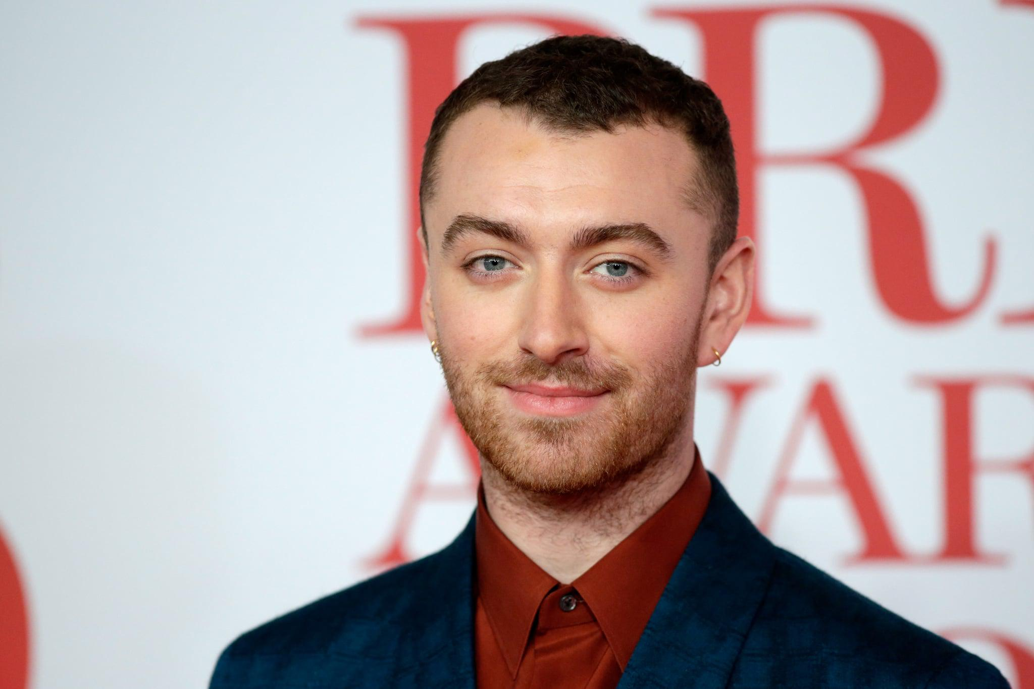 LONDON, ENGLAND - FEBRUARY 21:  *** EDITORIAL USE ONLY IN RELATION TO THE BRIT AWARDS 2018***  Sam Smith attends The BRIT Awards 2018 held at The O2 Arena on February 21, 2018 in London, England.  (Photo by John Phillips/Getty Images)