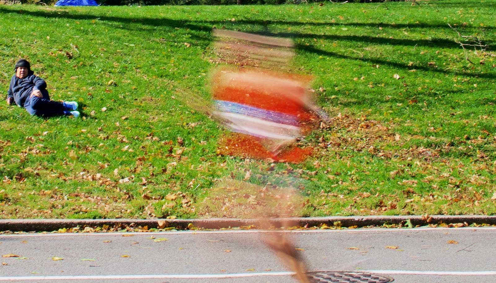 marathon runner and observer