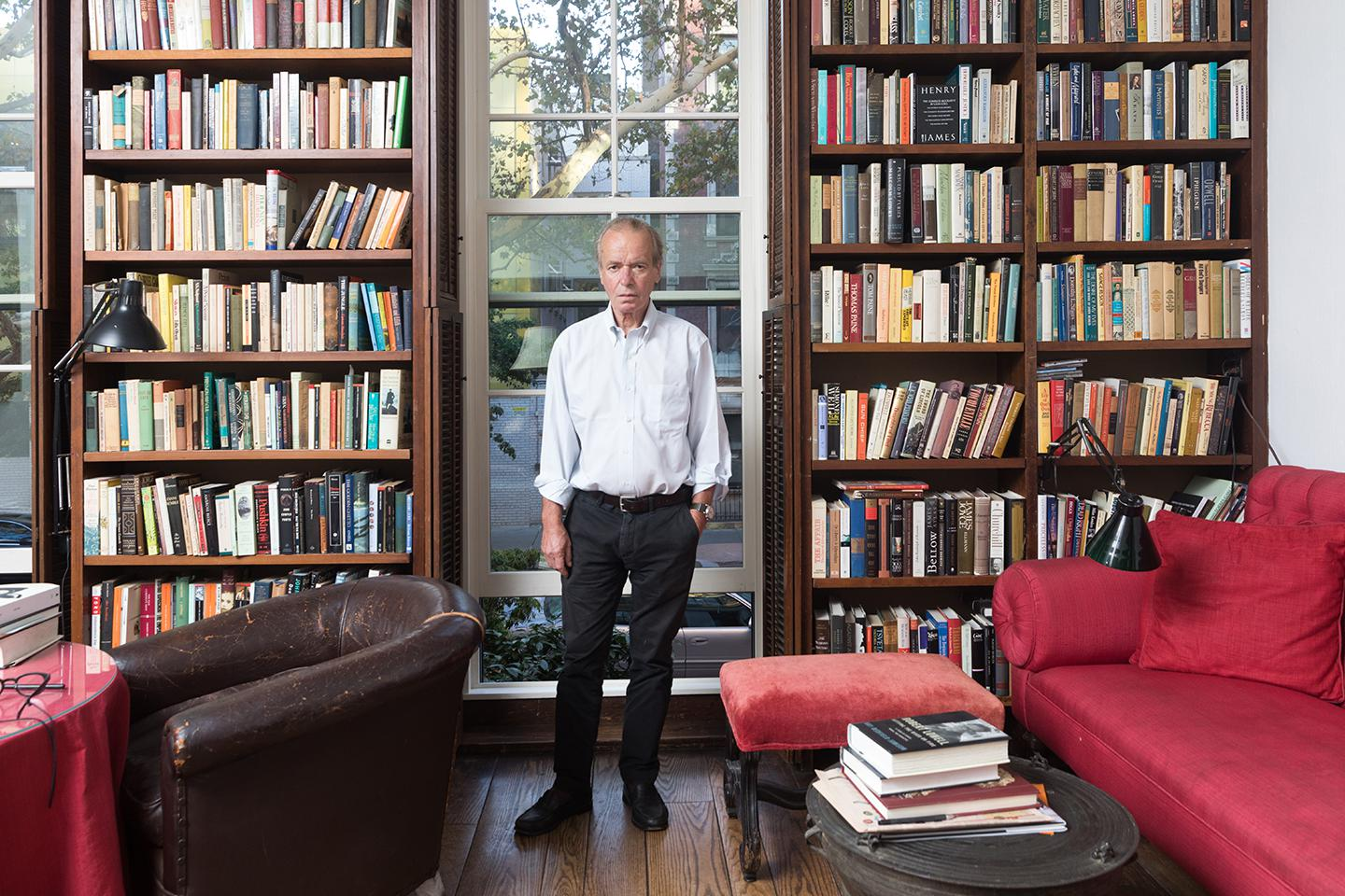 The Booker Prize–winning author in his New York City apartment last September.