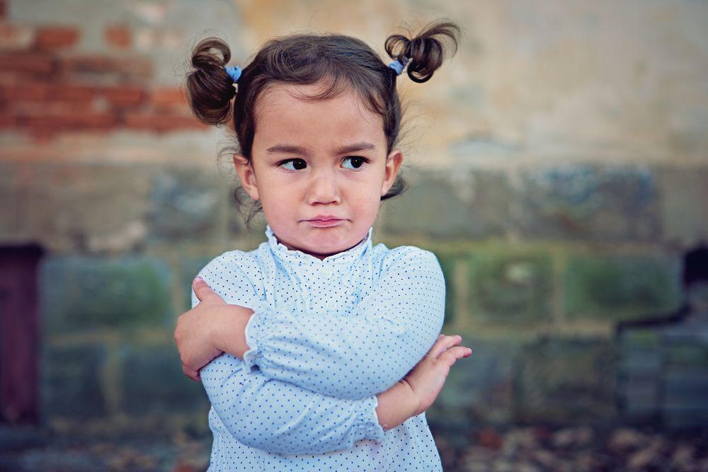Toddler Girl Tantrum Upset