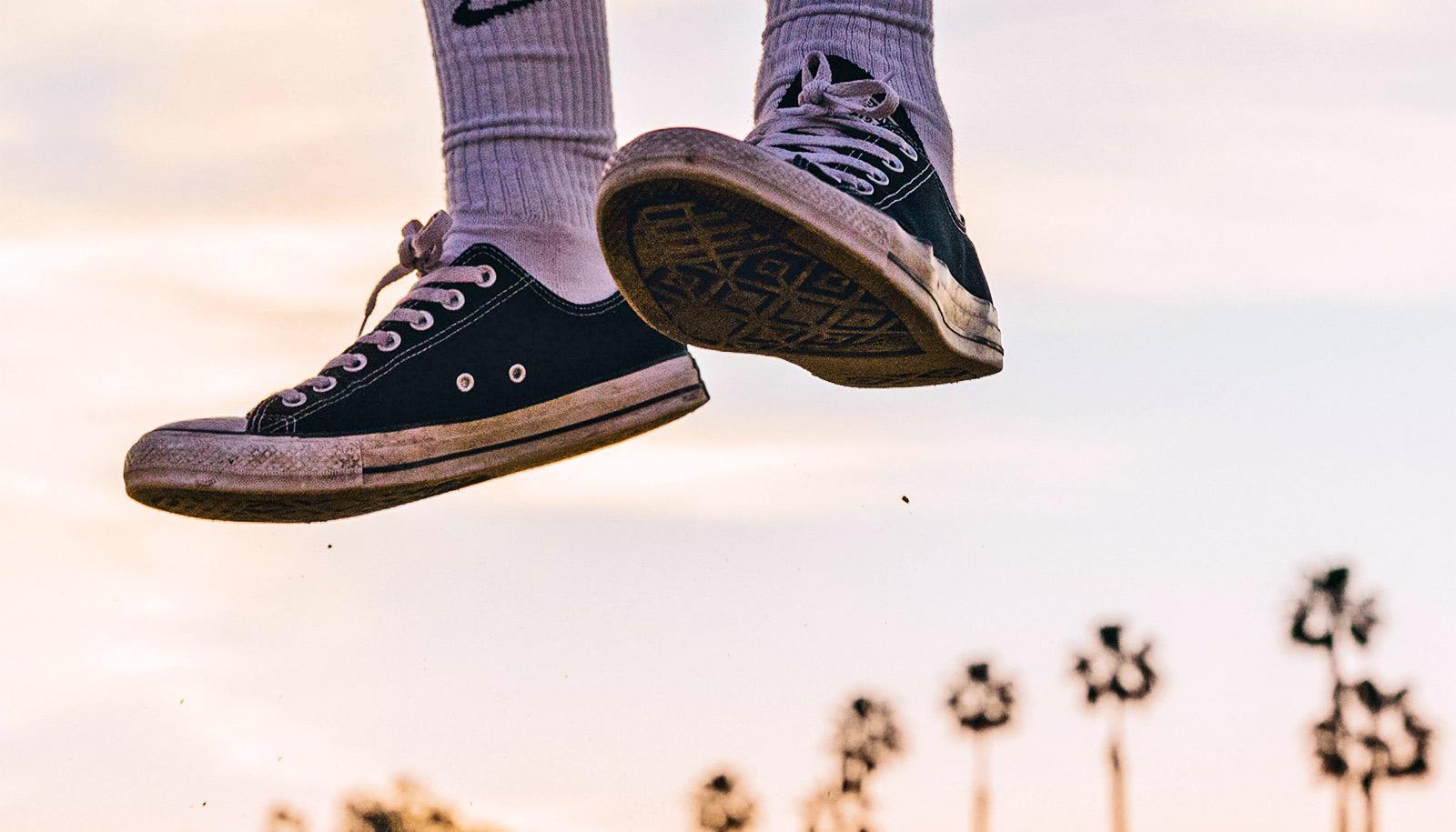 converse shoes jump (jumping genes concept)