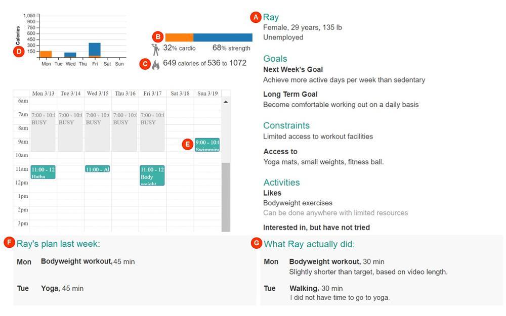 crowdfit screenshot - workout plan