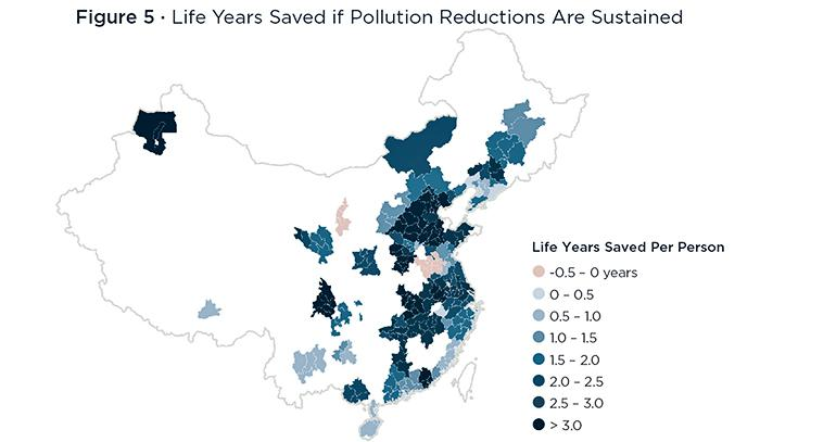 pollution map China