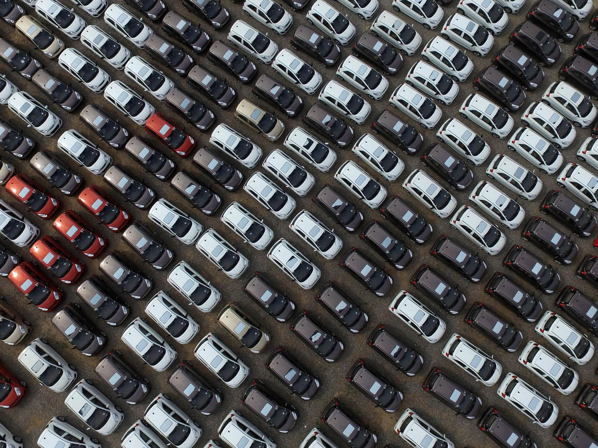 An aerial view of a new energy vehicle manufacturing base in Qinghe County on April 27, 2016 in Xingtai, Hebei province, China. China is targeting 35 million vehicle sales by 2025 and wants new energy vehicles to make up at least one-fifth of that total.