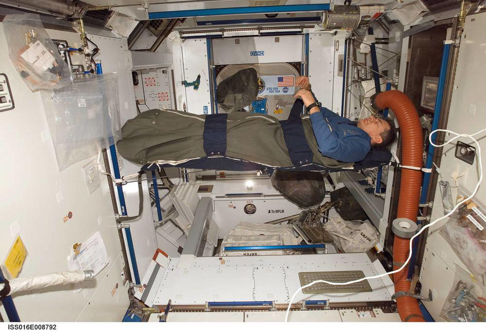 astronaut on the ISS