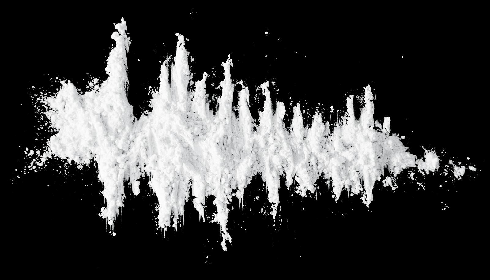 line of cocaine looks like decreasing graph