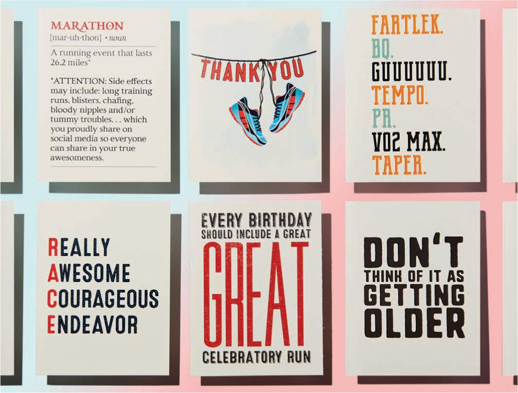 Source Six Of Our Favorite Runner Greeting Cards From Unpreparathon Which Also Sells Statement Tanks And Tees