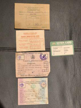 Old voters cards