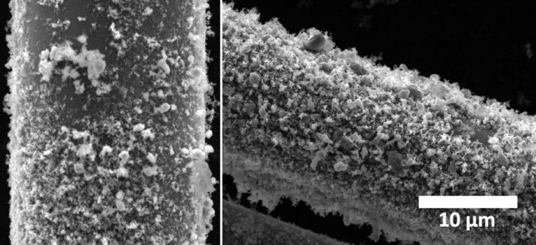 nanotubes burned away
