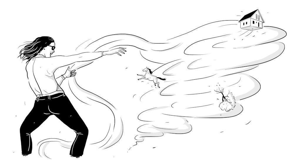 storm chaser illustration