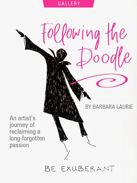 Following The Doodle: An Artist's Journey Of Reclaiming A Long-Forgotten Passion by Barbara Laurie. Photograph of a drawing of Barbara's doodle person, described in the article