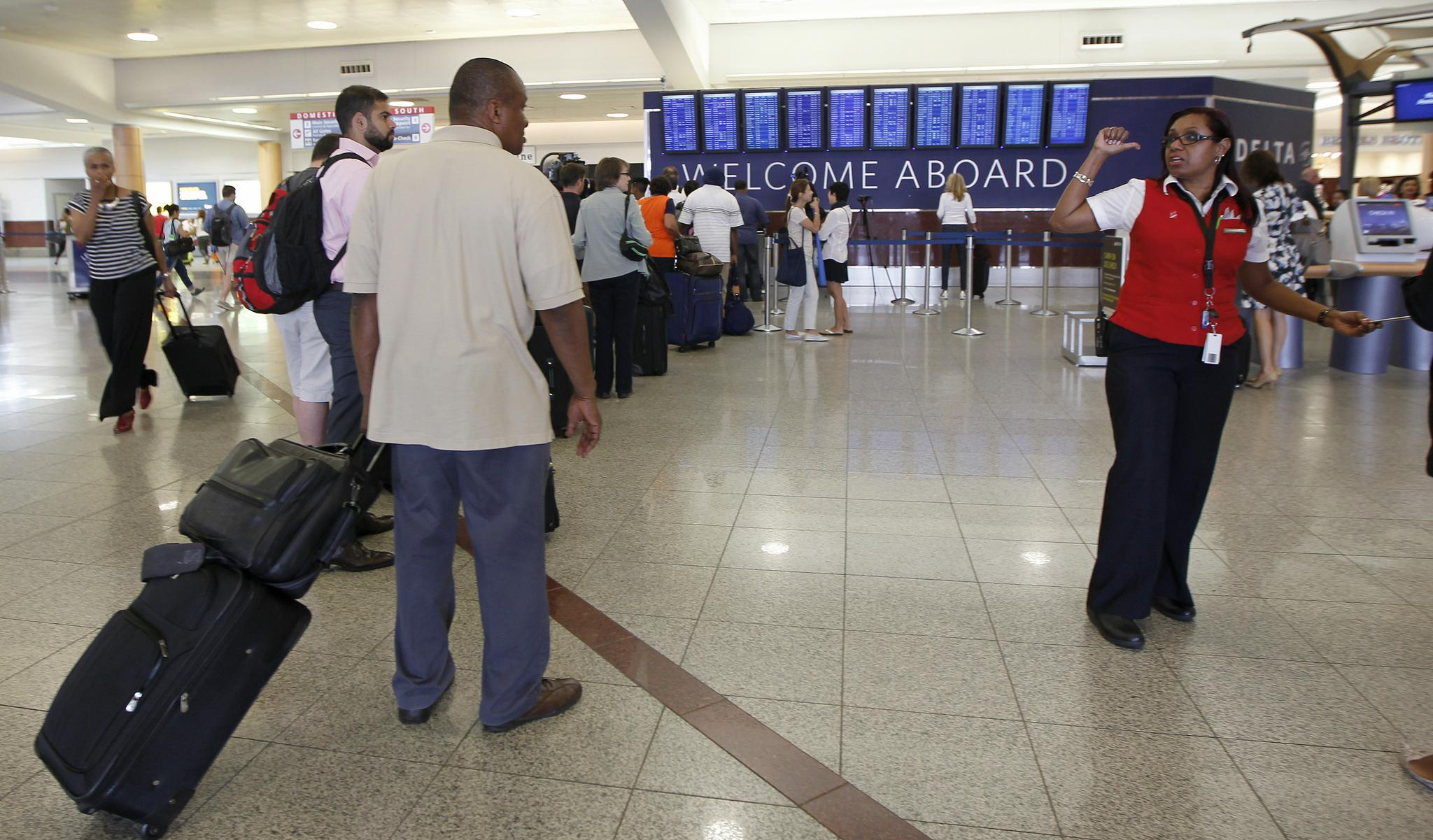 Lines are unavoidable at airports, but you need not join every one.