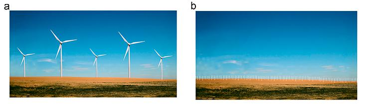 wind turbines in openspace