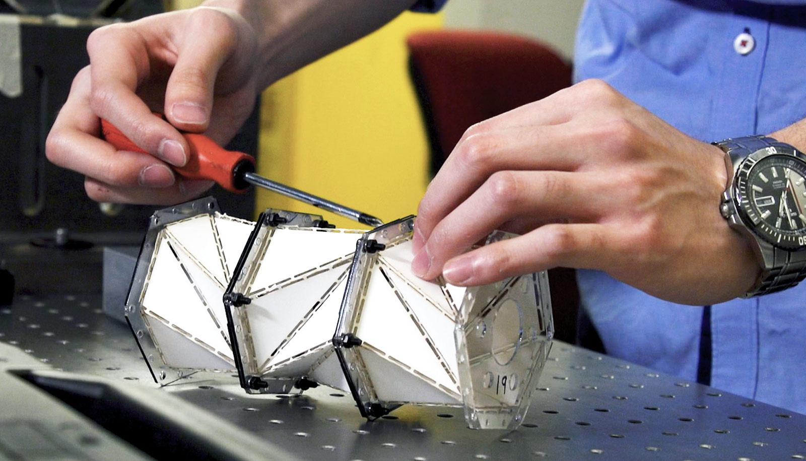 origami metamaterial prototype