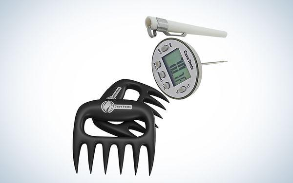 Cave Tools Meat Claws + Digital Cooking Thermometer