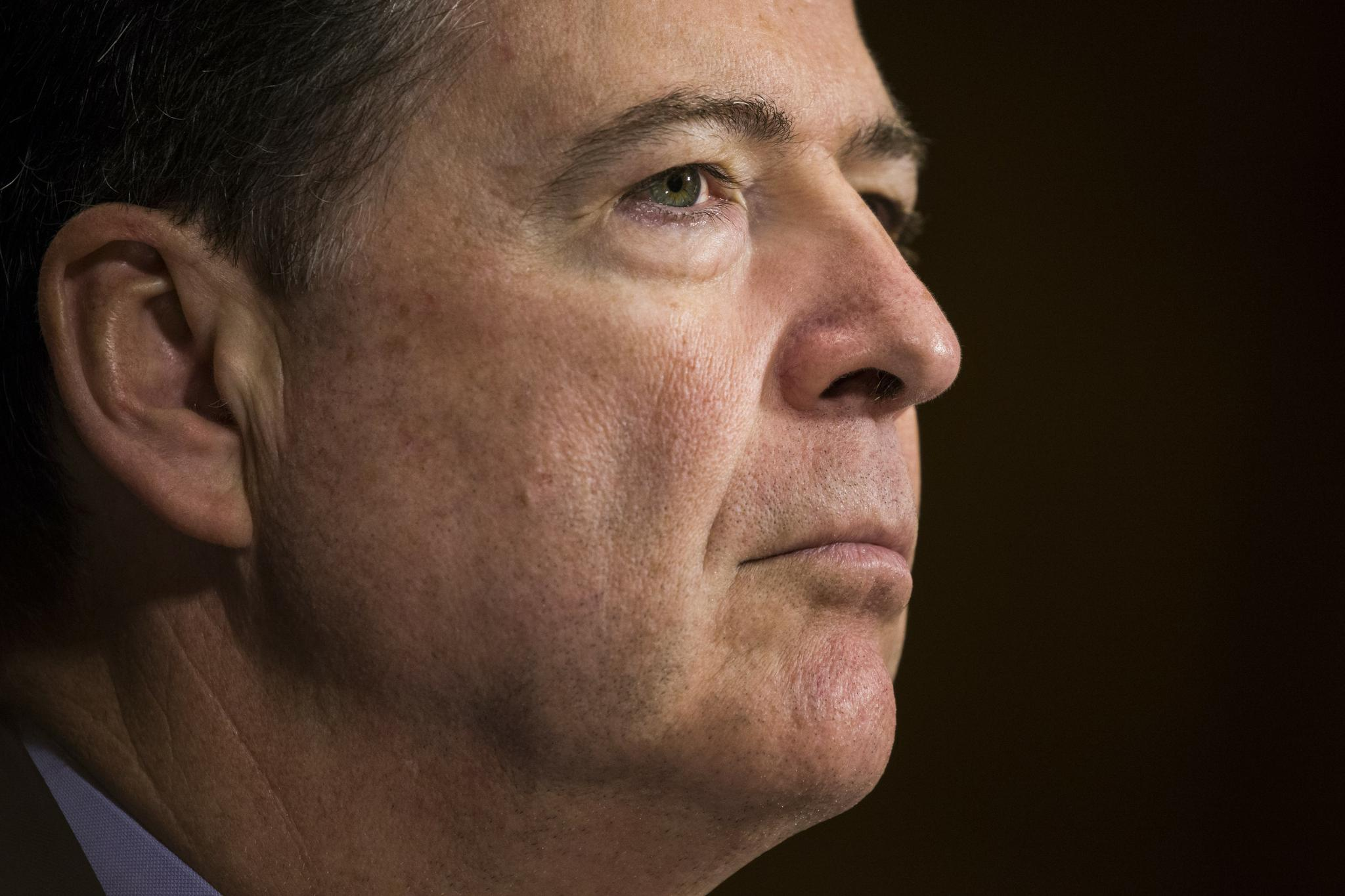 FBI Director James Comey testifies before the Senate Judiciary Committee at the U.S. Capitol in Washington, D.C. on May 3.