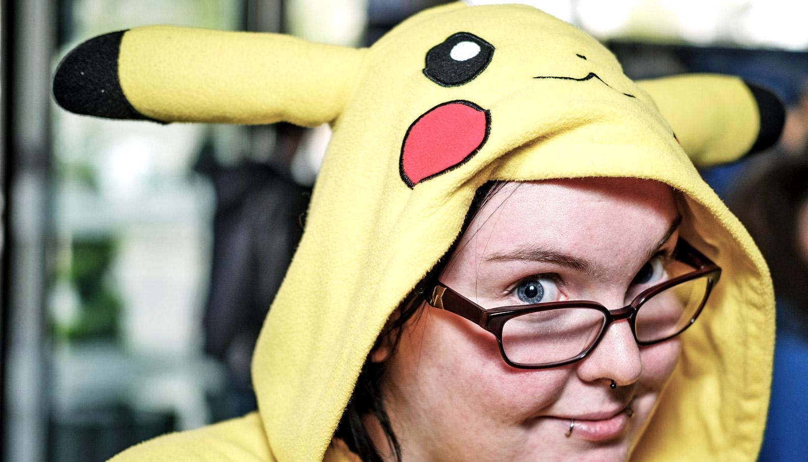 person in Pokemon costume