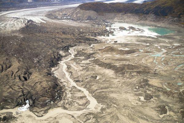 river and glacier
