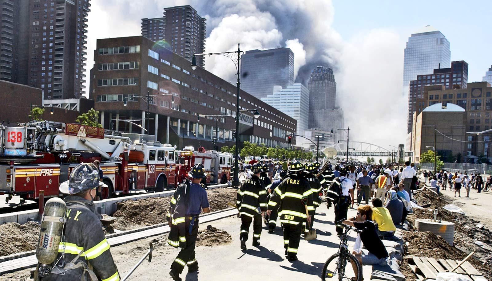 firefighters on west side highway on 9/11
