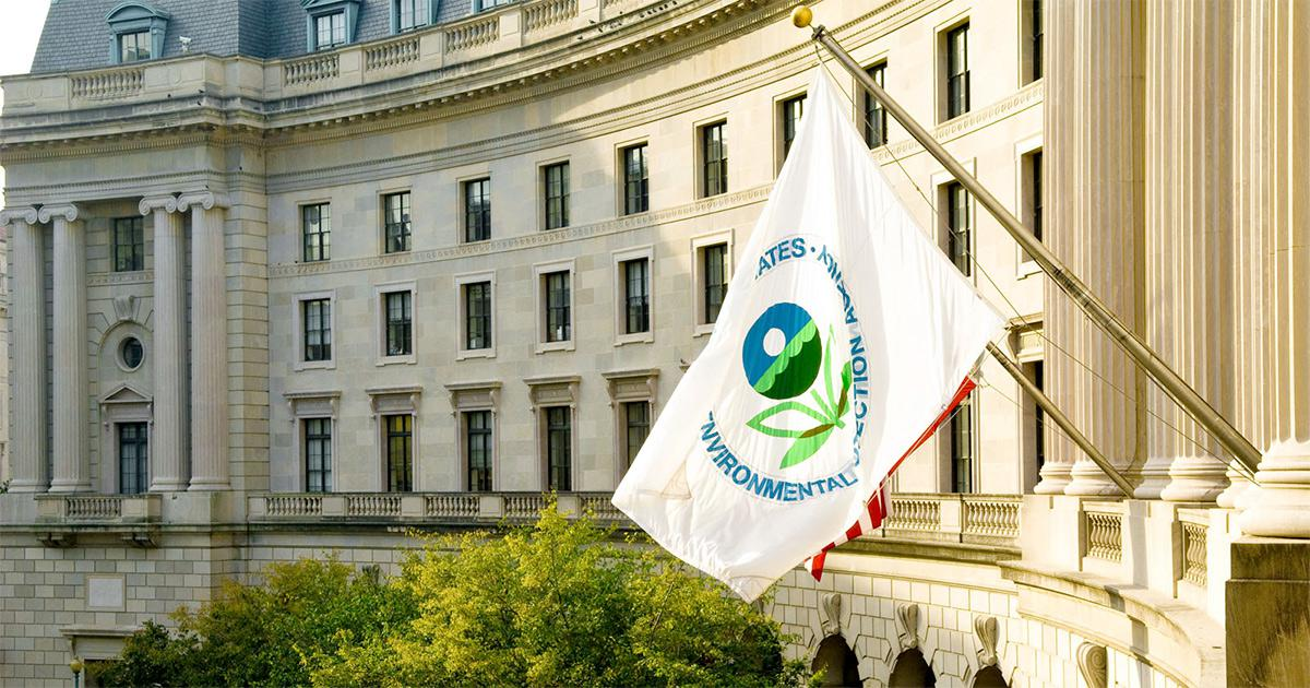 EPA office building with agency flag