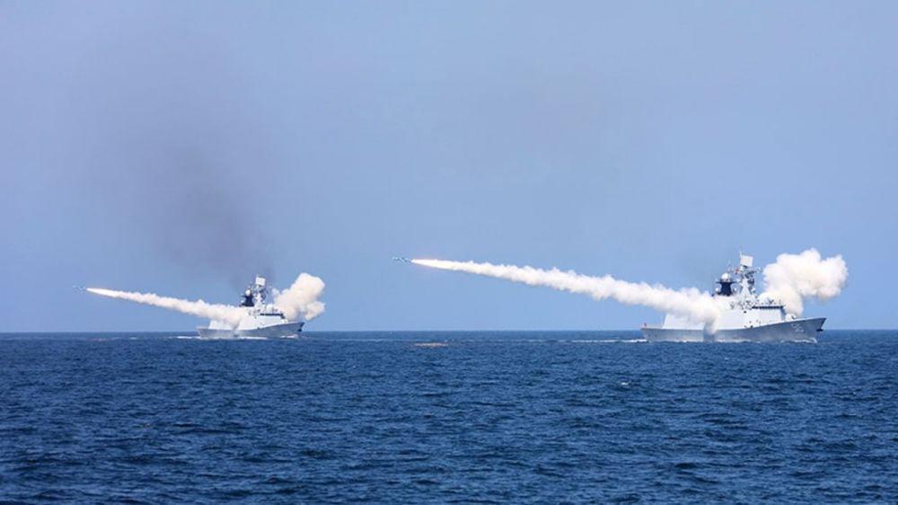 China Naval Exercise North Korea Type 054 Frigate
