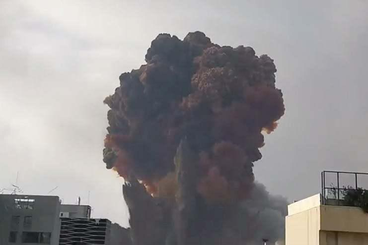 The blast ripped through the city on Tuesday (via REUTERS)