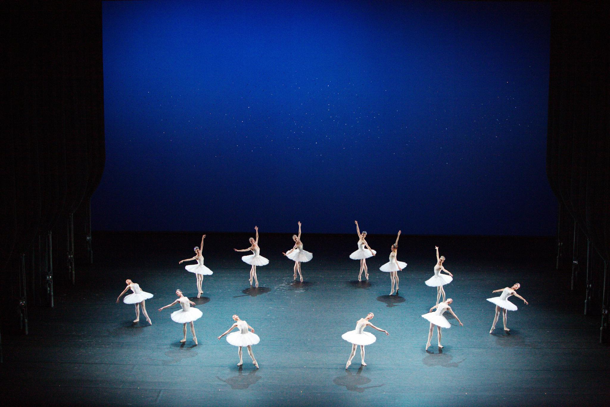 """'Diamonds,' with music from Peter Ilyich Tchaikovsky, from """"Jewels"""" by George Balanchine in three parts."""