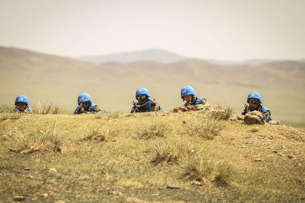 South Korean Marines in Mongolia