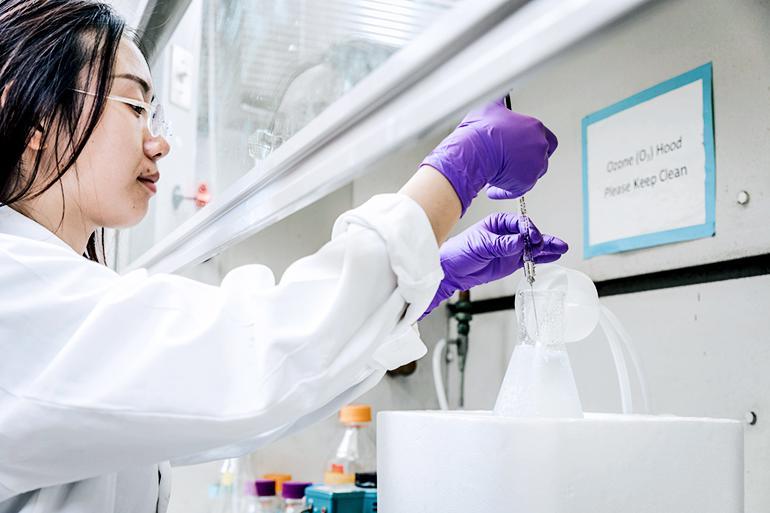 Researcher evaluates ozone's effect on antibiotic resistance genes