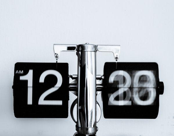 clock with blurred face