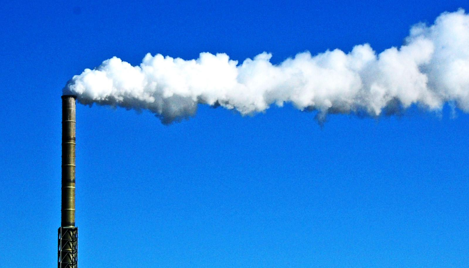 smoke stack (co2 emissions concept)