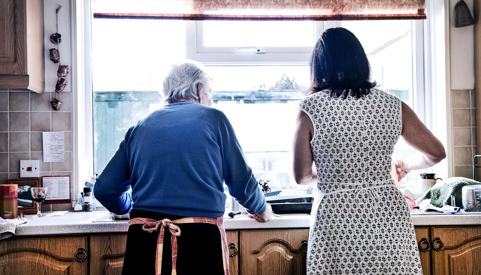 caregiver in the kitchen