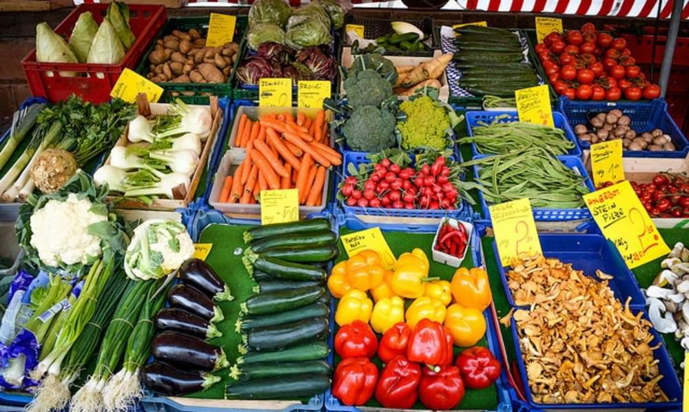 vegetables at a store