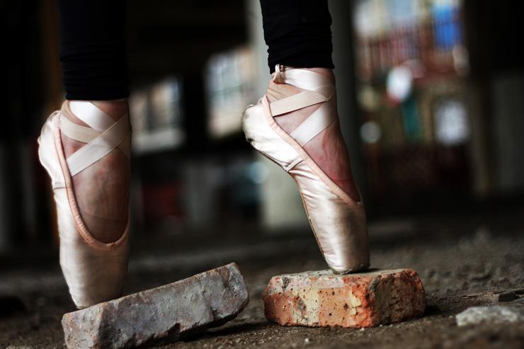 Balance, optimal performance, photograph of ballet slippers by Sarah Cervantes