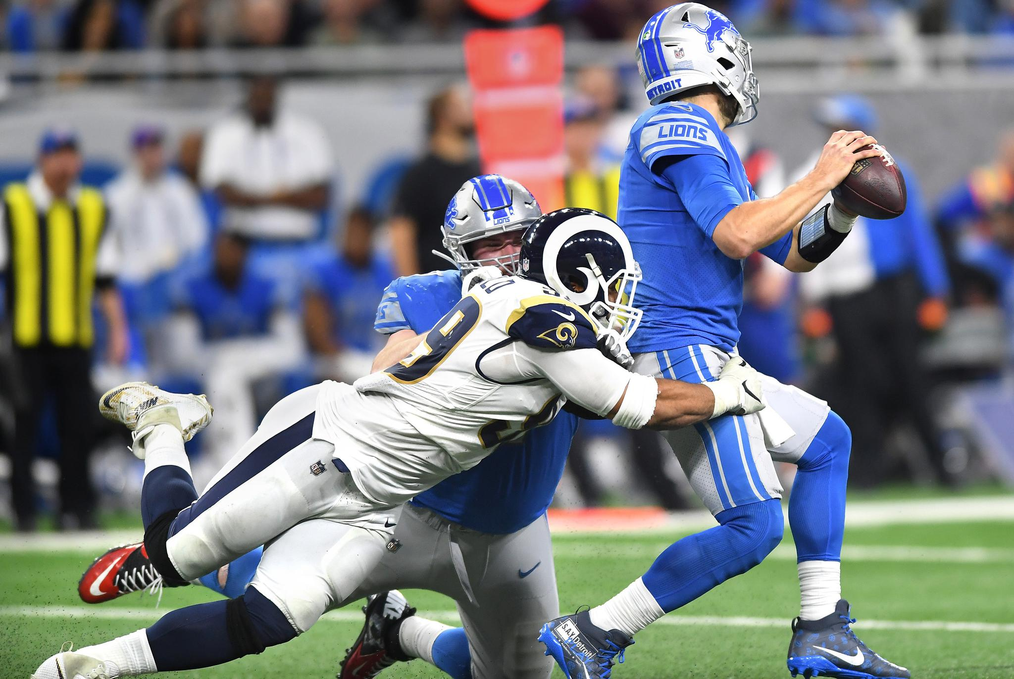 da0deac3605 How will the Bears protect Mitch Trubisky from QB menace Aaron Donald of  the Rams