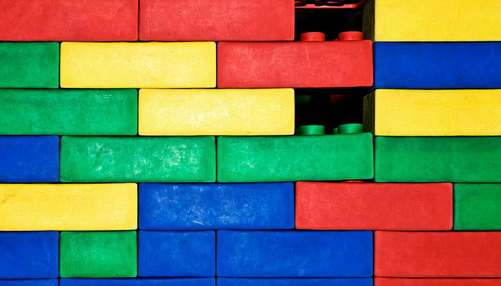 lego brick wall (Epithelial tissues concept)