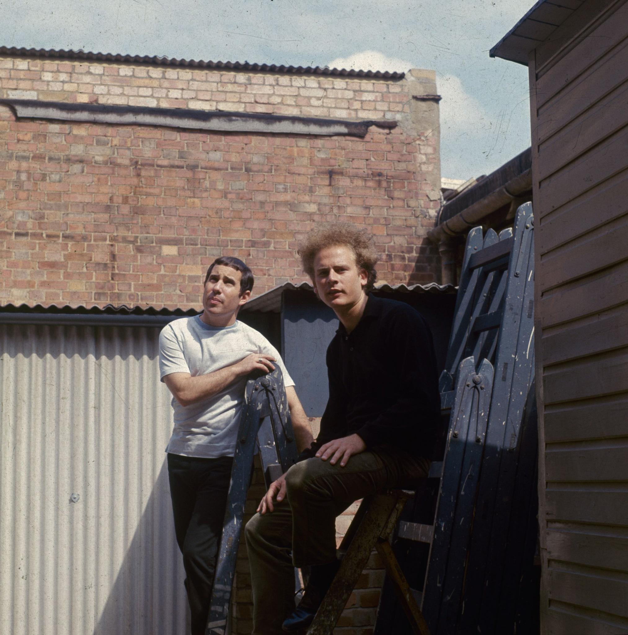 Simon and his childhood buddy Garfunkel, right, were originally defiant East Village folkies.