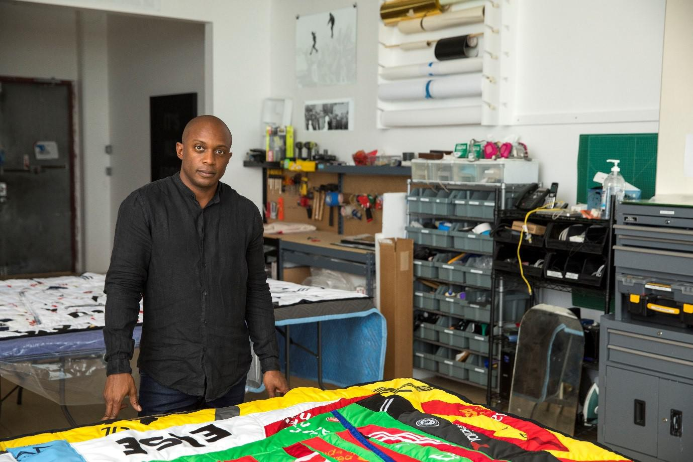 Artist Hank Willis Thomas. His show is up at Jack Shainman's two Chelsea galleries in New York and runs through May 12. It features 15 works based on photographs of 20th century protest movements around the world.