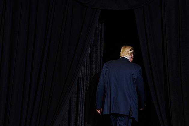 President Donald Trump in Huntington, West Virginia, on Aug. 3 (Justin Merriman/Getty Images)