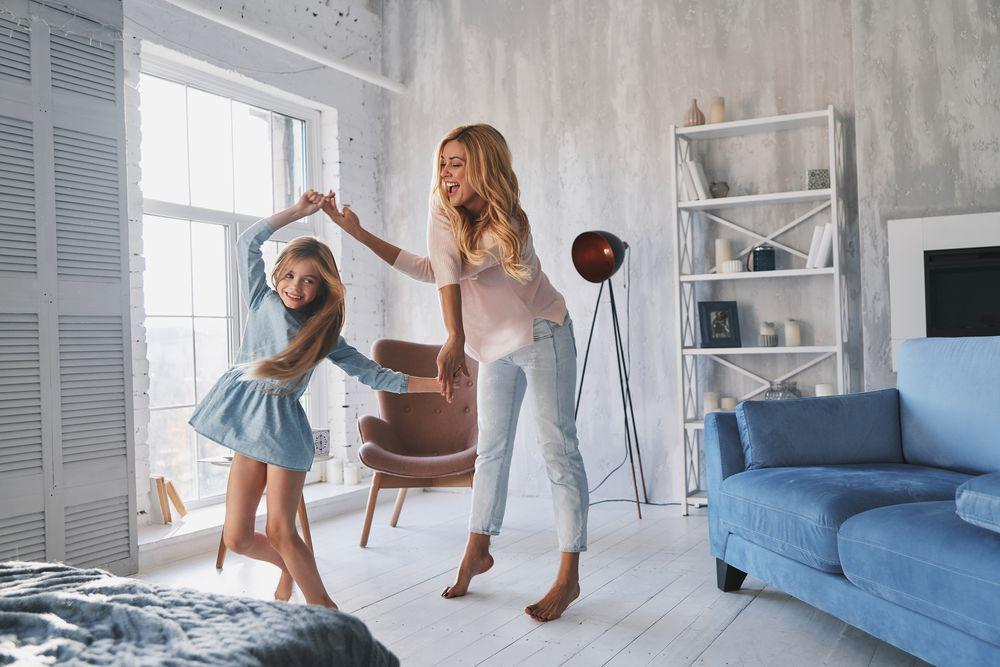Mom Dancing with Child