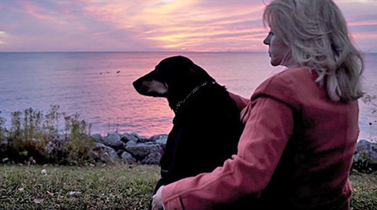 Saving Sadie: Loving A Dog With Special Needs… and Paying It Forward by Joel Derse. Photograph of Sadie and Joal at sunset