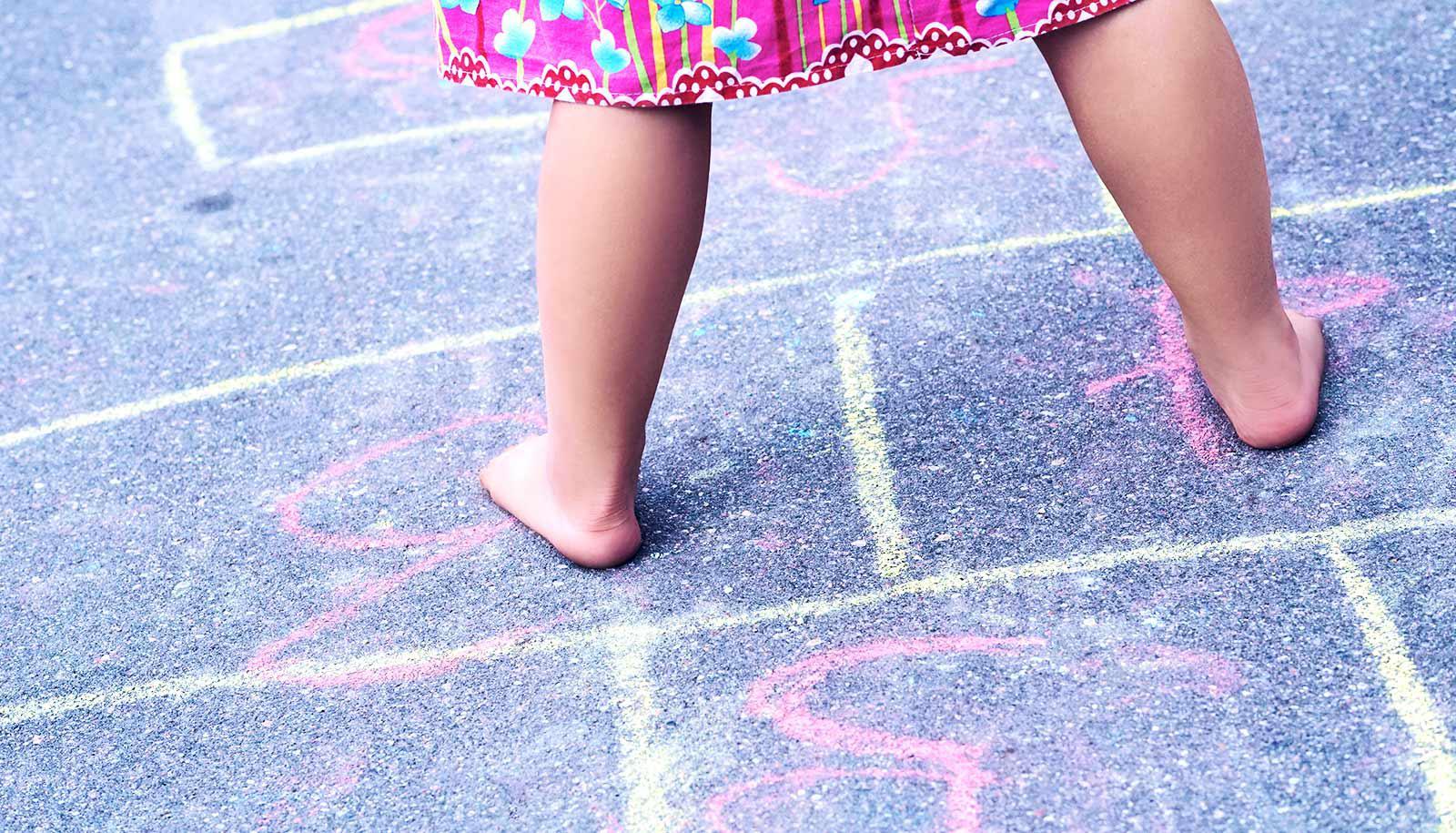 hopscotch little girl