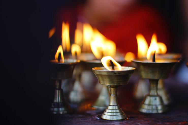 Mindful Space, photograph of candles by Animesh Basnet