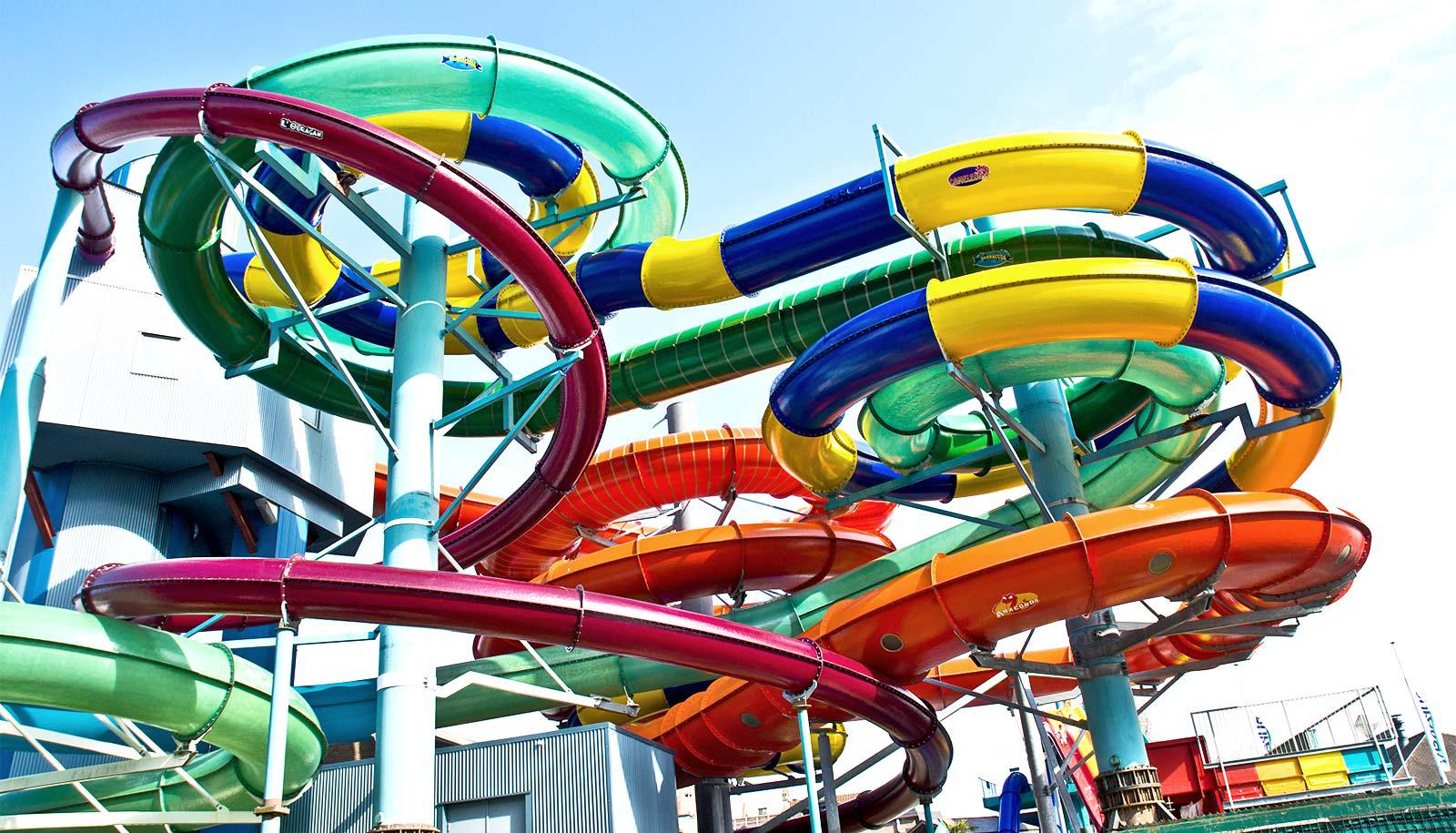 water slide with segments