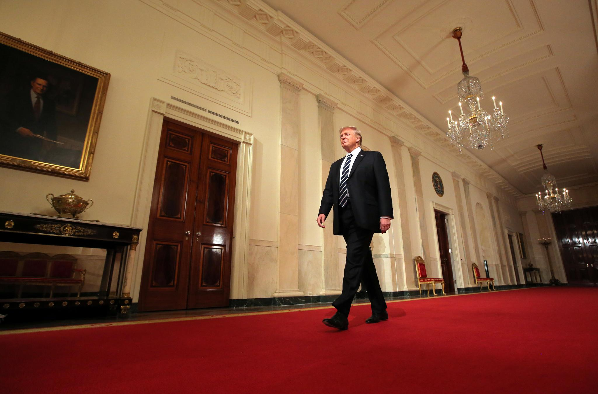President Donald Trump at the White House in Washington, D.C., on January 31.
