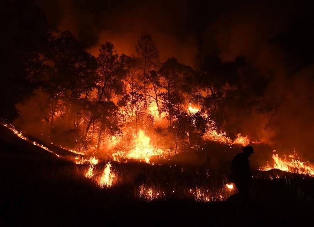 The Mendocino fire in California.